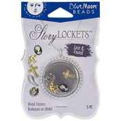 Blue Moon Beads Story Lockets Metal Charm, Lost and Found, Assortment, 5-Pack