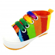 Baby Girls Boys Shoe,Kingko® 0~18 Months Baby Colourful Canvas Sneaker Anti-slip Soft Sole Toddler Shoes