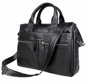 Jsix Mens Genuine Leather Handbags Briefcases Shoulder Bag Brown Black