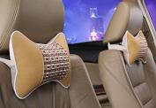 Calcifer® 1 pair Brand New Fashion Comfortable Memory Foam Head Massage Car Neck Pillow Headrest Seat#CP007