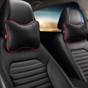 Calcifer® 1 pair Brand New Fashion Comfortable Memory Foam Head Massage Car Neck Pillow Headrest Seat#CP003