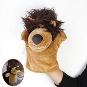 MaltonYO17 Kid Plush Velour Hand Puppets Farm Cute Animals Zoo Learning Aid Lion