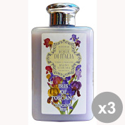 Set of 3 HANORAH WATERS OF ITALY Bathroom IRIS IN TUSCANY 300 Ml. Soaps and cosmetics