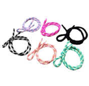 Da.Wa 10 Cute Pieces Elastic Double Root Knot Bow Band Ponytail Holder for Girls