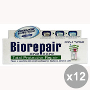 Set of 12 Biorepair Toothpaste TOTAL PROTECTIVE 75 Ml. Products for teeth and facial