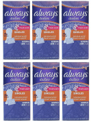 Always Fresh Scent Singles Dailies Normal Panty Liners, 20 Count