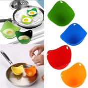 Lalang Silicone Egg Poacher, Set of 4 Pcs Random Colour