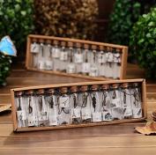 12Pc Mini Glass Bottle fashion metal Pendant Wishing bottle Glass Jars For Wedding Favours,Birthday Gifts
