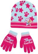 Paw Patrol Hat And Gloves Pink Skye Set