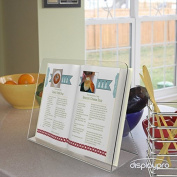 Acrylic Cookbook / Recipe Cook Book Stand - . H234mm W270mm D118mm