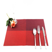 Home Table Decoration Accessories Heat-insulated Tableware PVC Chic Placemat Kitchen Dining Bowl waterproof Red