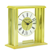 London Clock - Gold Flat Top Mantel Clock