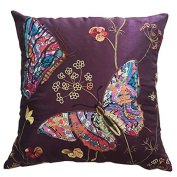 Embroidered Butterfly Cushion Covers Decorative PillowCase46cm x 18""