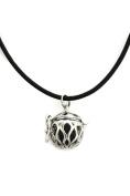Destination Oils Basic Black Cowhide Essential Oil Lava Stone Diffuser Necklace-46cm - 50cm