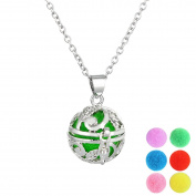 HOUSWEETY Aromatherapy Essential Oil Diffuser Necklace - Locket Pendant,6 Colourful Pads