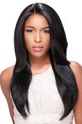 Premier Crown Hair 8A Human Hair Glueless Full Lace Wig Virgin Brazilian Natural Straight Hair Wigs 130% Denisity Natural Colour For Women