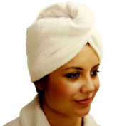 Hair Towel Twist Hair Drying Wrap Super Absorbent Terry Fabric Cream Colour