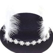 Retro Fascinator Lace Feather headband Clips : SP9