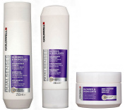 Goldwell Dualsenses Blonde & Highlights Duo Anti-Yellow Tint Shampoo 250 ml + Anti-Yellow Tint Conditioner 200 ml + 60 sec Treatment 200 ml by Dualsenses