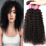 KLAIYI Hair Brazilian Curly Hair 3 Bundles Good Quality Grade 6A Raw Virgin Hair Weave Real Human Hair Extensions Natural Colour 95-100g/pc