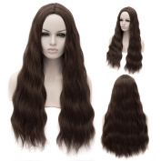 Women's 80cm Central Parting Haircut Long wave Heat Resistent Hair Synthetic Wig