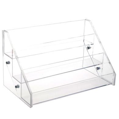 KLOUD City® Acrylic 3 Tiered Nail Polish Organiser Table Rack Show Display Holder Stand (22cm )