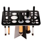 inkint Fashion 26 Holes Makeup Brushes Drying Rack Air Dry Cosmetic Tools Storage Holder Display Bracket Shelf Foldable