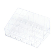 Happy Hours - 24 Stand Clear Makeup Lipstick Cosmetic Storage Box Case / Fashion Design Transparent Plastic Trapezoid Organiser Display Stand