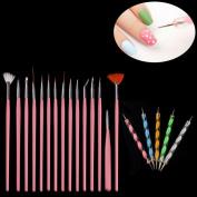 Towallmark(TM) 20PCS Nail Art Design Dotting Painting Drawing Polish Brush Pen Tools
