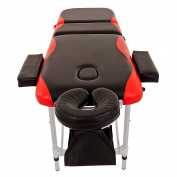 Merax Aluminium 3 Section Portable Massage Table Facial SPA Tattoo Bed