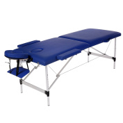 Homdox Portable Massage Table Two-fold with Aluminium Feet, Height Adjustable
