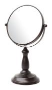 BathSense VAN1290ORB Pedestal Vanity Circular Tilting Bathroom Mirror, Oil Rubbed Bronze