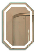 Octagon LED Bathrom Mirror 50cm X 80cm | Lighted Wall Mount Vanity Mirror includes Defogger & Dimmer | Vertical or Horizontal Instal
