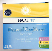 Equaline Personal Confidence Tampns with Flushable Cardboard Applicator