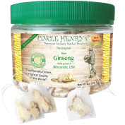 """Ginseng from Wisconsin, USA #1 Best Taste Premium Fresh Farmers Market Quality. Big Double-Sealed Artisan Product, Original Green Lid """"You'll Love it"""" Henry's Guarantee"""