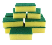 Kitchen Wash Cleaner Yellow Green Sponge Scrubber Pads