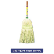 Boardwalk Parlour Broom, Corn Fibre Bristles, 110cm Wood Handle, Natural, 12/Carton