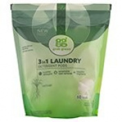 Grab Green 3-in-1 Laundry Detergents Vetiver Pre-Measured Concentrated Powder Pods 60 Loads (a) - 2pc