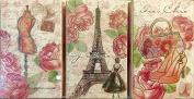 Pooch & Sweetheart Keepsake Caddy Box w/3 Rose Soaps ~ Parisian Tres Chic