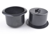 2 Pcs Black Plastic Recliner-Handles Replacement Cup Holder Insert for Sofa Boat Rv Couch Recliner Car Truck Poker Table