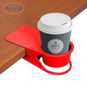 LOHOME Cup Holder, Coffee Water Soda Bottle Clip on Edage of The Table DIY Glass Clamp