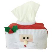 Christmas Style Santa Claus Belt Felt Tissue Box Case Holder Home Decoration