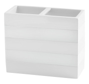 Kassatex Fine Linens ACL-TBH-W Cabana Accessories Toothbrush Holder, White