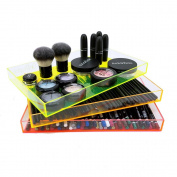 OnDisplay Electric Neon Luxe Clear Acrylic Stackable Cosmetic/Jewellery Tray - Stack of 3