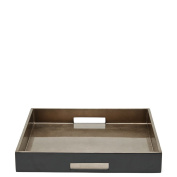 Waterworks Large Square Lacquered Tray in Brown