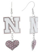 Special Edition Nebraska N Love Pink Collection Dangle Earrings