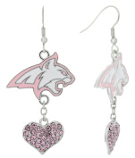 Special Edition Montana State Bobcats Love Pink Collection Dangle Earrings