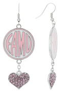 Special Edition FAMU Love Pink Collection Dangle Earrings