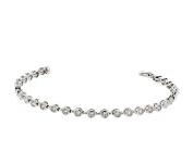 Tennis Bracelet, 14kt White gold Diamond Tennis Bracelet, 0.95 TCW