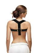 CAMP BEN (TM) Medium Posture Corrector - Shoulder Support Brace - Figure 8 Clavicle Therapy - Improve Hunched Back